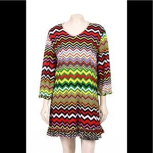 Lady Noiz chevron dress 2X